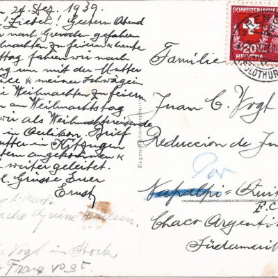 Suiza – 1939 – Frontera suiza – Mire!!! – L06p27o04 – VFST